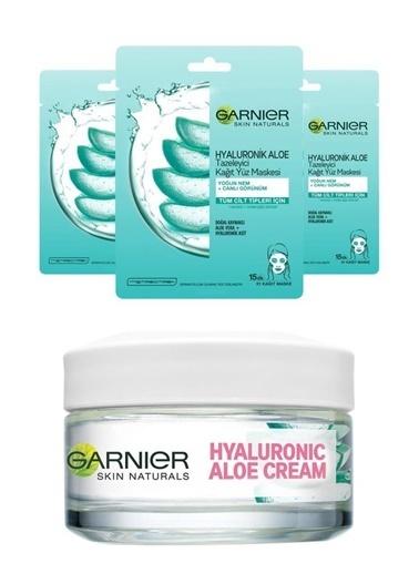 Garnier Garnier Hyaluronik Aloe Krem 50 Ml+Hyaluronik Aloe Maske X3 Renksiz